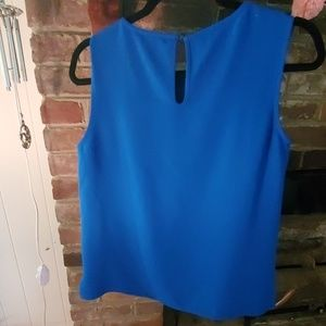 The Limited Tops - Blue Sleeveless Blouse